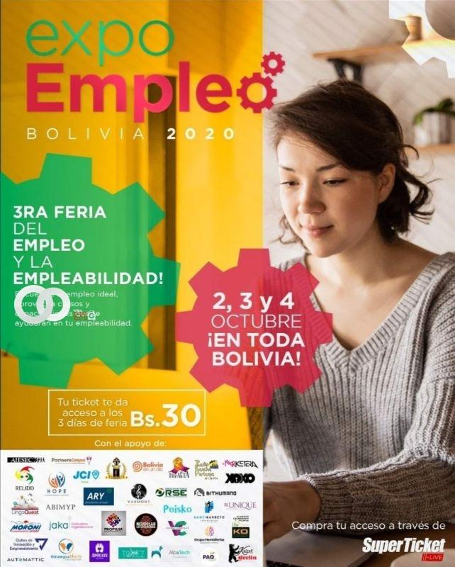 A días del ExpoEmpleo en Bolivia vía virtual