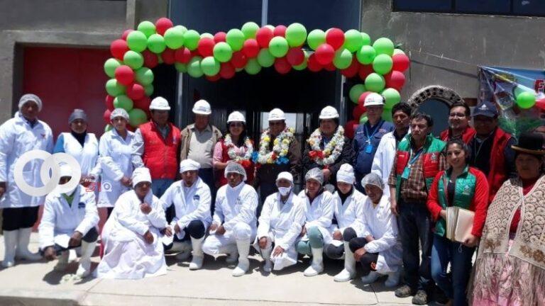 Gobernación de La Paz entregó maquinaria y equipo en la Planta Municipal de Derivados Lácteos de Viacha