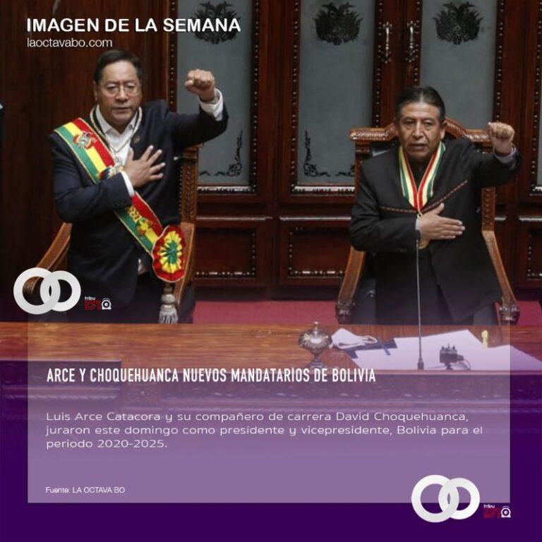 Arce y Choquehuanca nuevos mandatarios de Bolivia