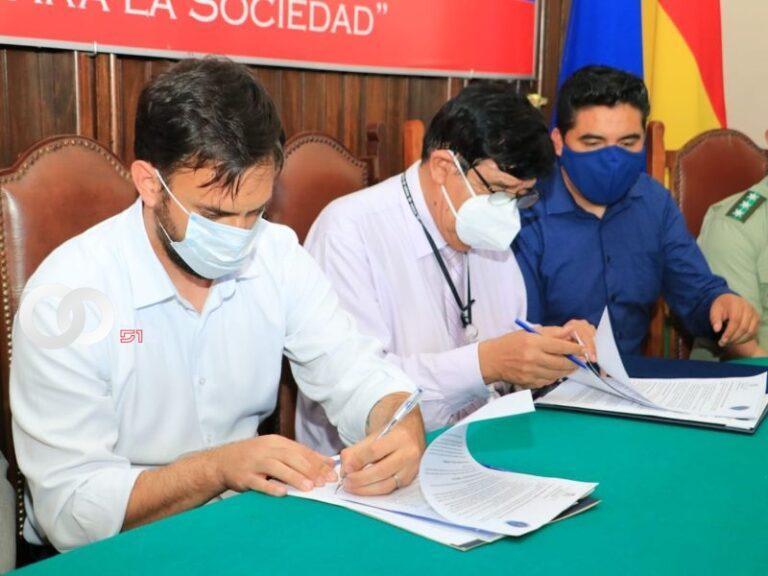 Ministerio de Gobierno firma convenio de cooperación interinstitucional con UAGRM