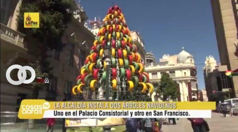 Alcaldía utiliza material reciclado para decorar la ciudad por Navidad