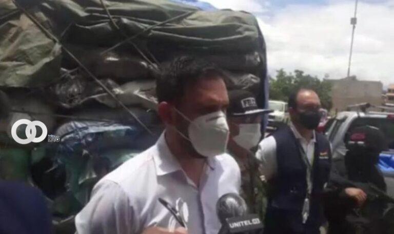 Cochabamba: Policía interviene un camión escoltado por contrabandistas