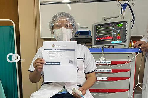 Cochabamba cuarto departamento en recibir la vacuna