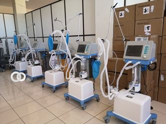 Respiradores, foto Ministerio de Salud y Deportes