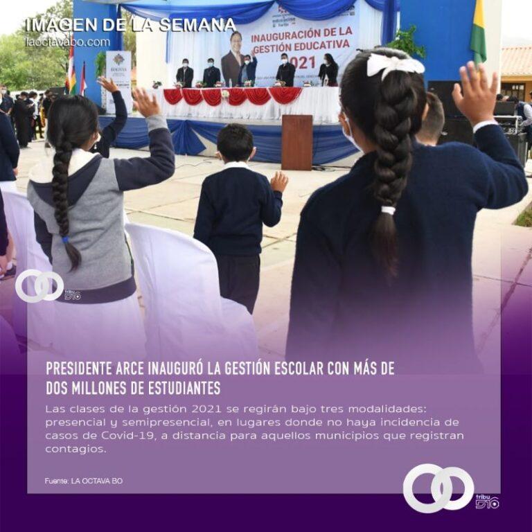 Presidente Arce inauguró la gestión escolar con más de dos millones de estudiantes