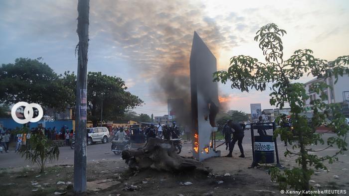 Momento del ataque armado contra un convoy