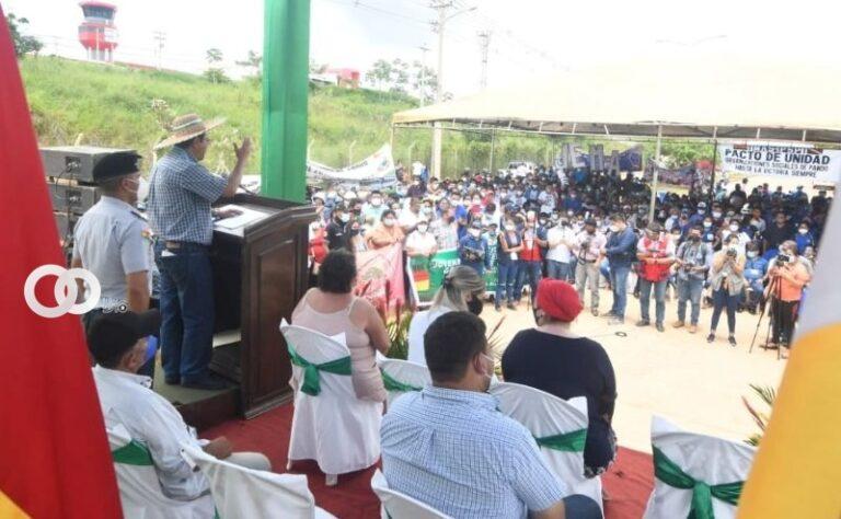 Arce pide a los pandinos elegir autoridades para coordinar ayuda del Gobierno