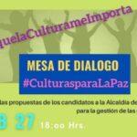 Concipculta convocó a candidatos a la Alcaldía de La Paz para dar a conocer sus propuestas en el ámbito artístico y cultural