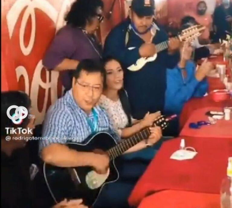 Doria Medina critica la guitarreada de Arce por redes sociales