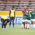 Equipo femenil que representa a Bolivia en Ecuador igualó 2-2 con su rival