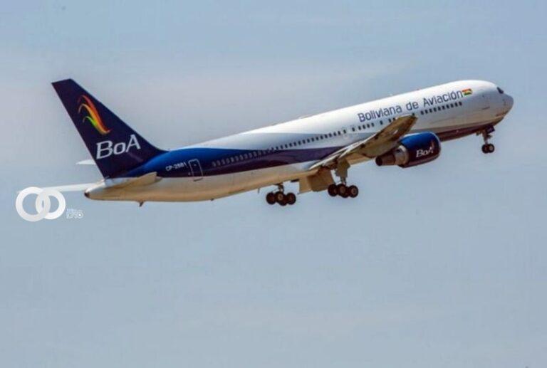 Avión de BOA partió a China para recoger vacunas Sinopharm