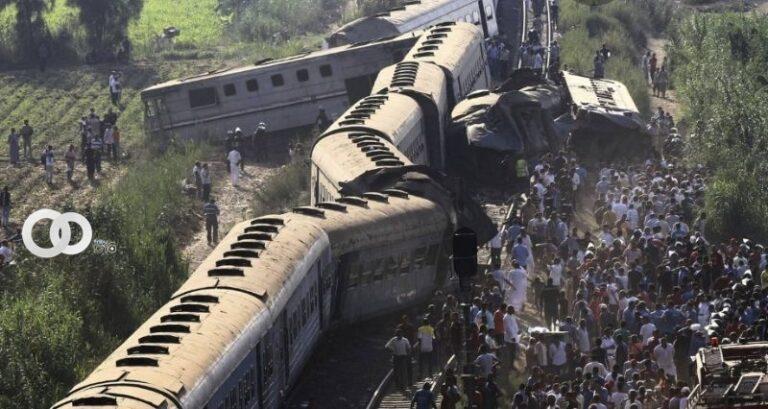 Choque de dos trenes en Egipto deja 32 fallecidos