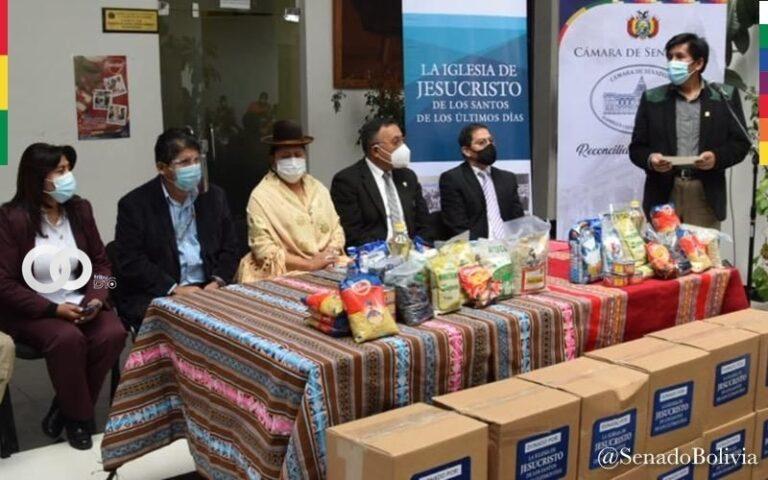 Senadora entregó 5 mil kits de alimentos para familias damnificadas