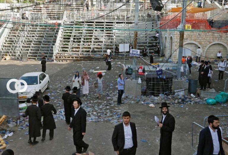 Estampida durante un festival religioso deja decenas de muertos en Israel