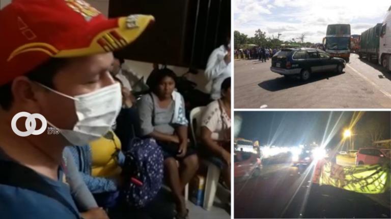 Santa Cruz: padres de familia del Distrito 7 continúan con el bloqueo de la ruta San Germán