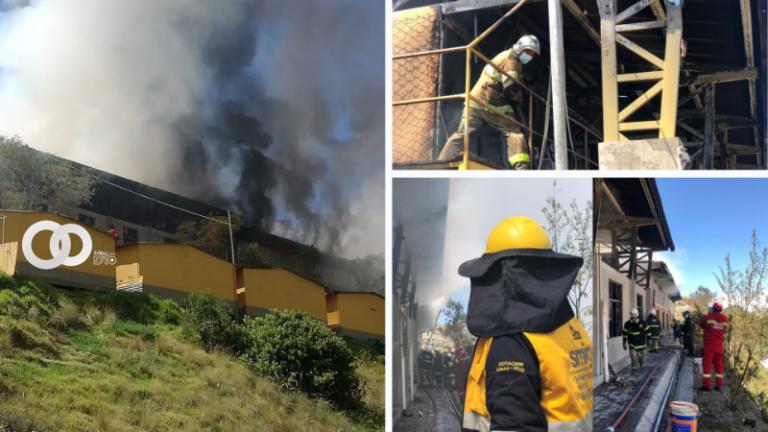 Hoy se produjo un incendio en los predios de la Dirección de Mantenimiento de la Alcaldía paceña