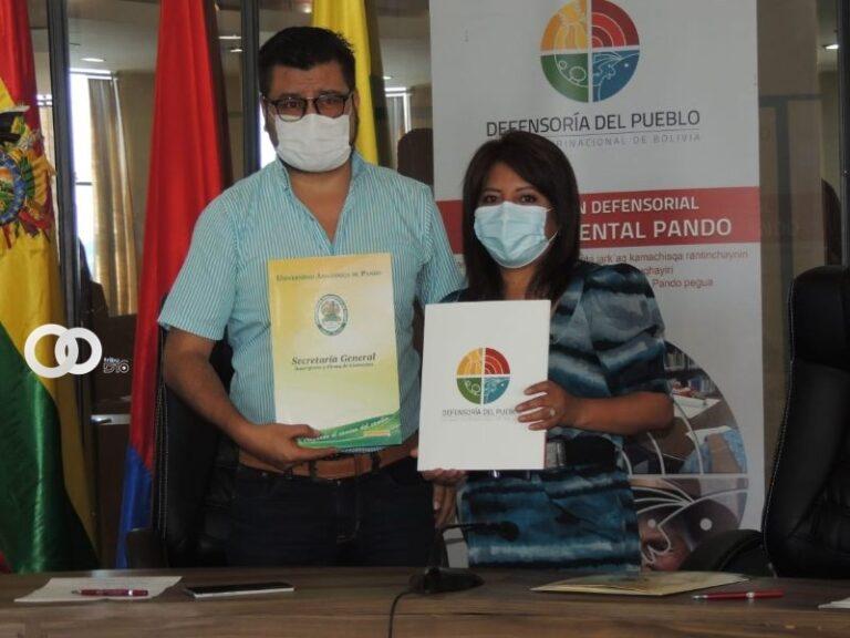 Convenio de dos años refuerza beneficios para docentes y estudiantes en Pando