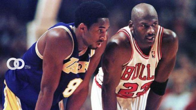 Kobe Bryant y Michael Jordan, cara a cara.Twitter