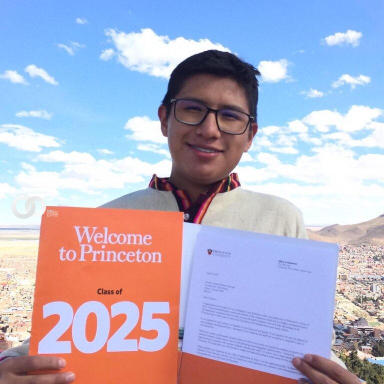 Joven orureño ganó una beca para estudiar en la Universidad de Princeton