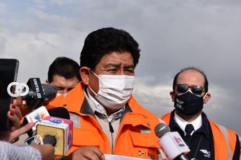 Montaño informó que este lunes se retomó los vuelos en rutas del aeropuerto de El Alto