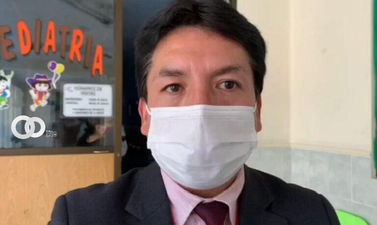 Juan José Fernández, nuevo jefe de Epidemiología del Sedes Chuquisca. CAPTURA DE VIDEO