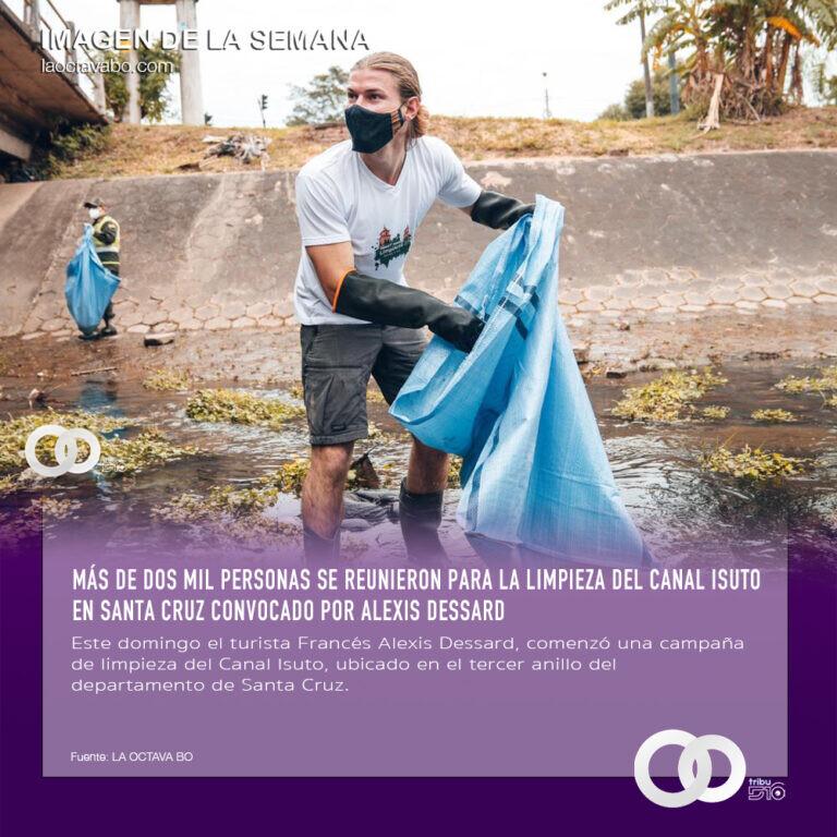 Más de dos mil personas se reunieron para la limpieza del Canal Isuto en Santa Cruz convocado por Alexis Dessard