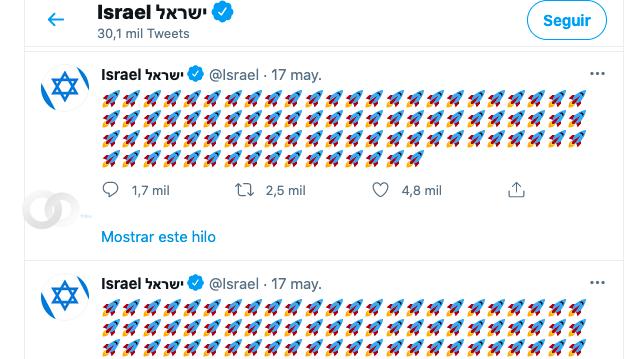 Polémica por los tweets del país Israel