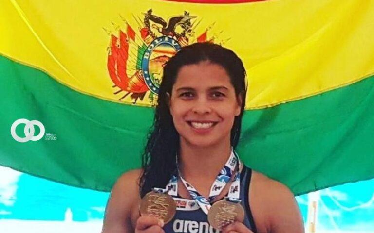Karen Tórrez Guzmán, destacada nadadora olímpica boliviana
