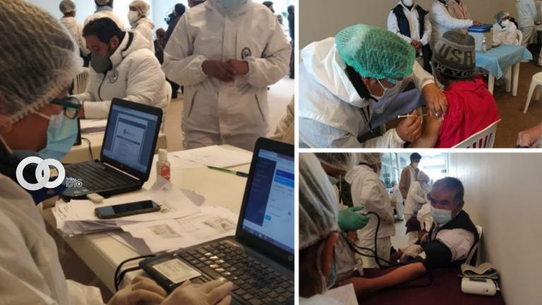 Hoy se llevó a cabo con éxito la campaña de vacunación masiva en El Alto