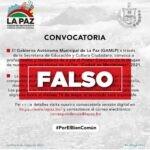 Supuesto concurso por parte del Gobierno Municipal es falso