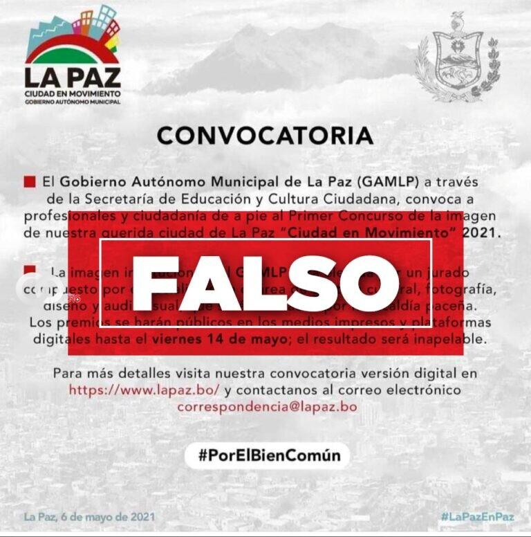 imagen: Gobierno Autónomo Municipal de La Paz