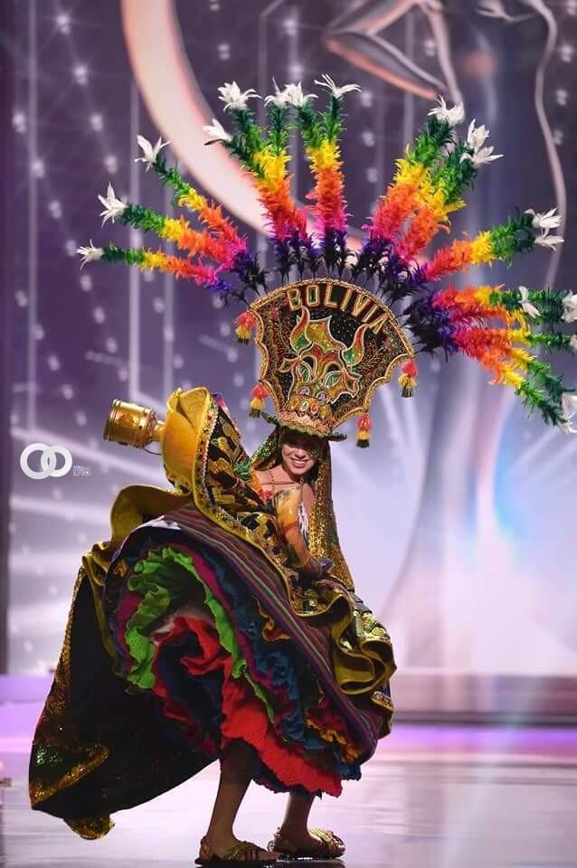 """Lenka Nemer enorgullece a Bolivia con su traje """"La fuerza de los Andes"""" en el Miss Universo 2021"""