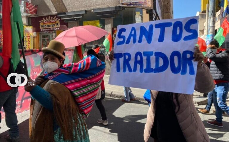Jallalla con su marcha de protesta exige renuncia de  Santos Quispe