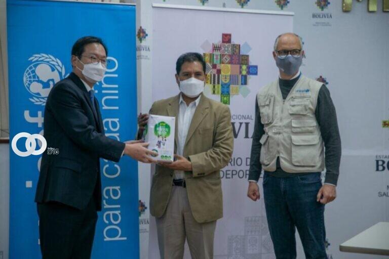 Corea y Unicef donan 100.000 barbijos KF-94 para luchar contra el Covid-19 en Bolivia