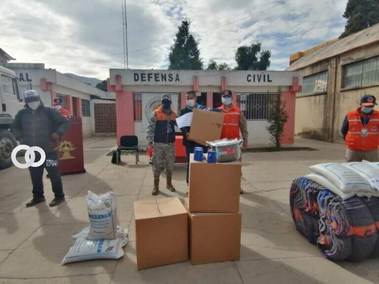 Gobierno entregó alimentos y vituallas a 1.141 familias damnificadas por heladas en Tiquipaya y Tacopaya