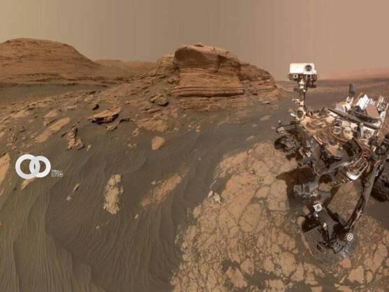 La instantánea muestra una superficie que, además de ser obtejo de estudio, es el hogar del dispositivo (NASA)