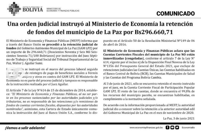 """Viceministro calificó de """"falsas"""" las declaraciones de Arias sobre congelamiento de cuentas"""