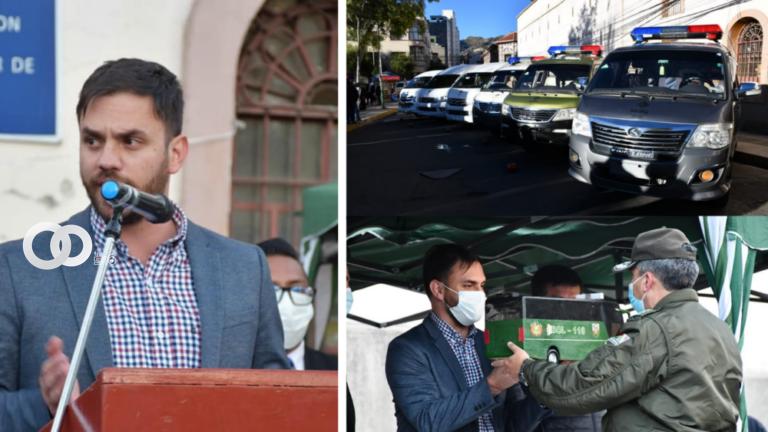 Dirección de Régimen Penitenciario de La Paz recibió seis vehículos incautados