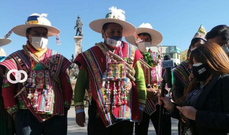 Mallku de los ayllus del Norte del Potosí sale en defensa de su diputado que peleo en la Asamblea Legislativa