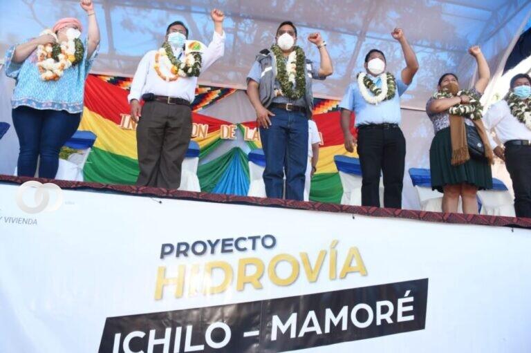 Gobierno Nacional realizó la primera carga de cemento por la Hidrovía Ichilo – Mamoré