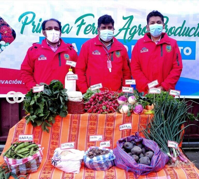 Primera Feria Agroproductiva en la ciudad de El Alto