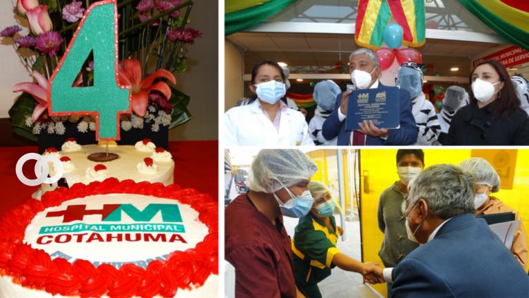 Hospital Municipal Cotahuma cumplió este jueves cuatro años de servicio a la población paceña