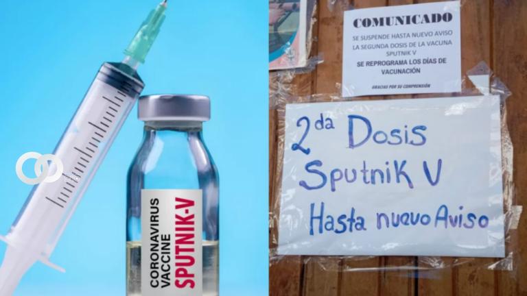 Sucre: se agotaron las 1.500 vacunas de la segunda dosis Sputnik V y hay molestias en la población