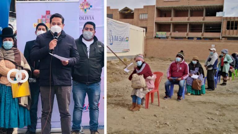 """Hoy se realizó la campaña """"Vacunatón Unidos por la Salud y la vida contra la COVID-19"""" en la ciudad de El Alto"""