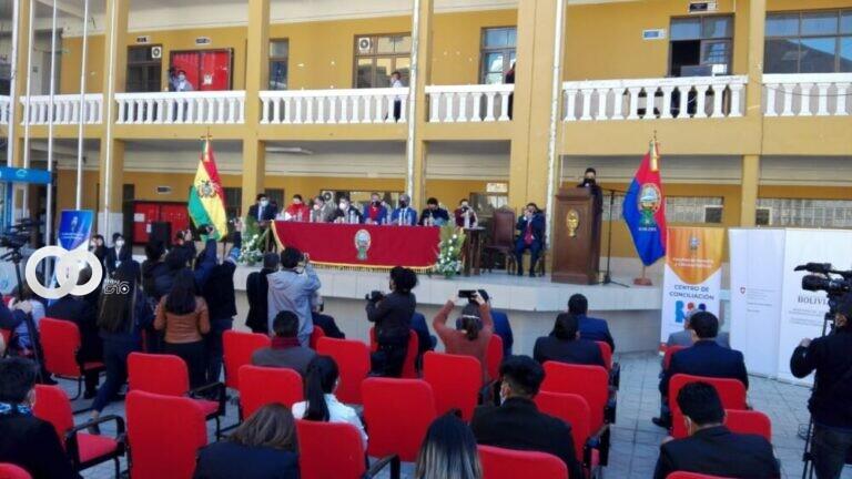 Inauguran centro de conciliación de la UMSA con el apoyo del Viceministerio de Justicia y la cooperación Suiza
