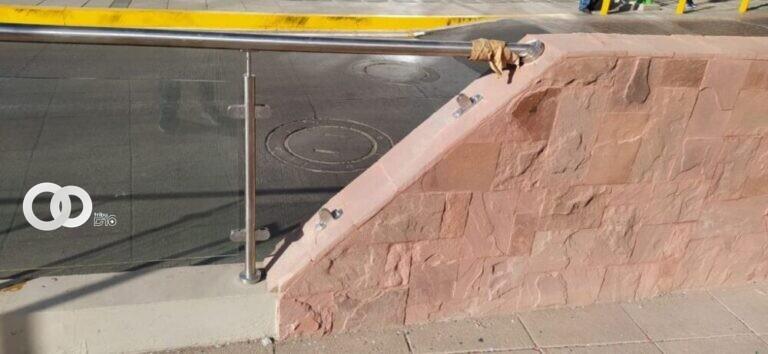 Cinco vidrios del complejo de viaductos Tejada Sorzano fueron robados