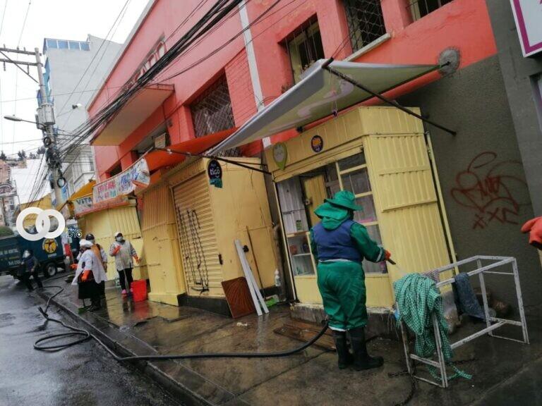 Comerciantes apoyan desinfección de sus mercados programadas por la Alcaldía