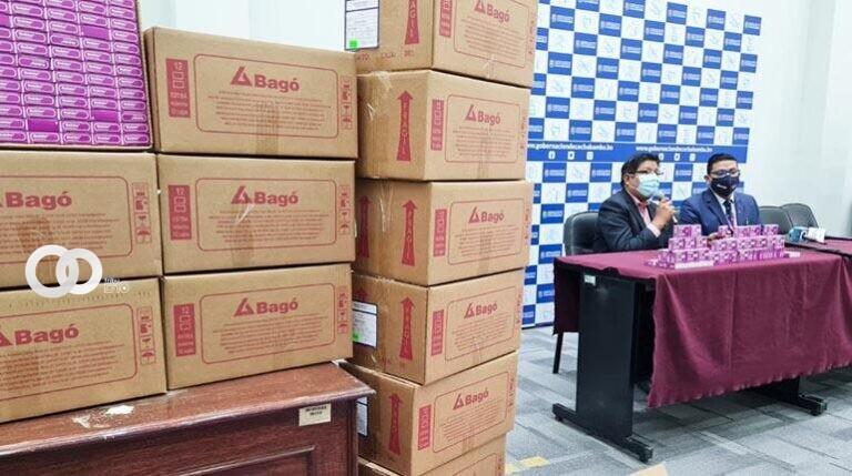 Laboratorios Bagó dona 5 mil tabletas de paracetamol para vacunados en Cochabamba