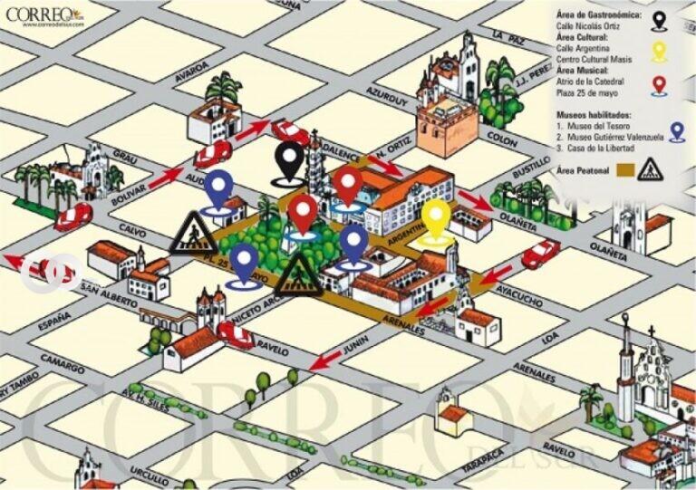 Alrededores de la plaza 25 de Mayo de Sucre serán peatonalizados los domingos