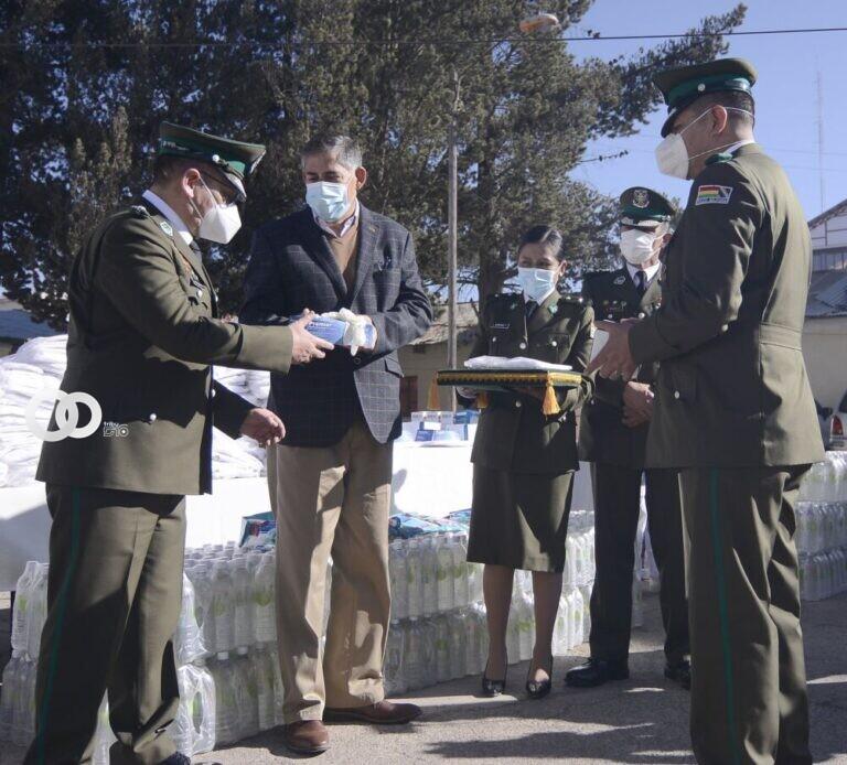 CBN dona materiales de bioseguridad a La Policía Boliviana